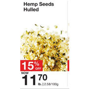 Hemp Seeds Hulled - $11.70/lb (15% off)