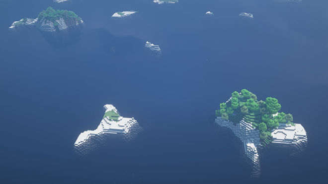 A Minecraft screenshot of a new world created with the seed 124014738.