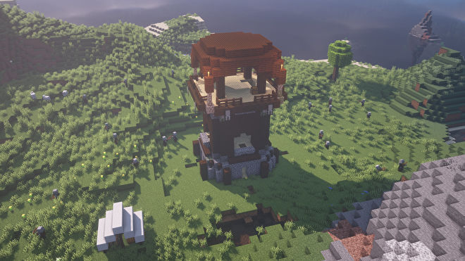 A Minecraft screenshot of a new world created with the seed 2327370183894455166.