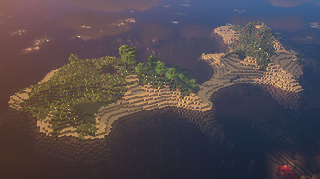 A Minecraft screenshot of a new world created with the seed 3585869031427545926.