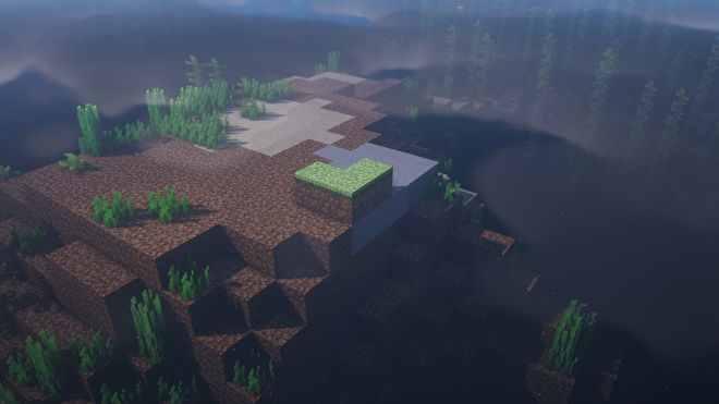 A Minecraft screenshot of a new world created with the seed -3115927715480771327.