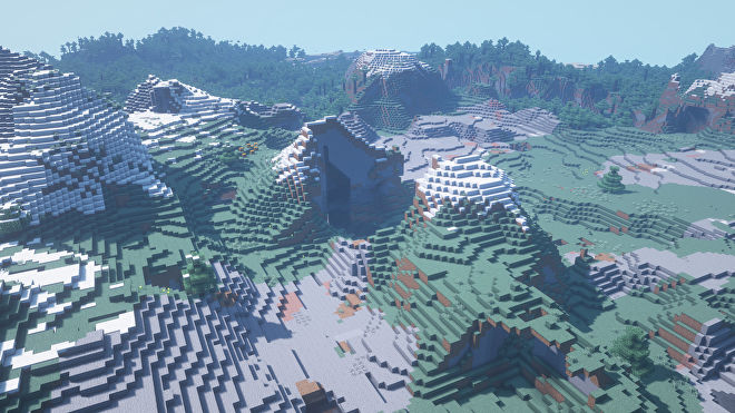 A Minecraft screenshot of a new world created with the seed -1832801519948573808.