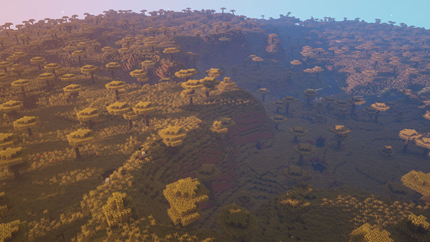 A Minecraft screenshot of a new world created with the seed -1613247987266390429.