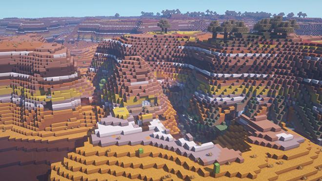 A Minecraft screenshot of a new world created with the seed -8427444967367737379.