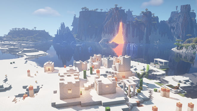 A Minecraft screenshot of a new world created with the seed 321708923.