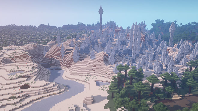 A Minecraft screenshot of a new world created with the seed -4186746847636013829.