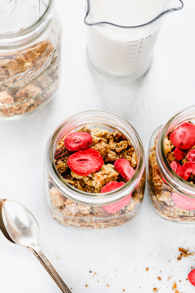 Mixed Nut and Hempseed Cereal - This vegan keto cereal will give you all the morning feels as it