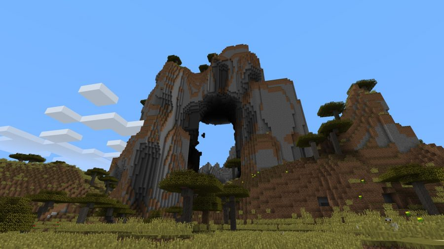 minecraft-seed-mountain-with-hole