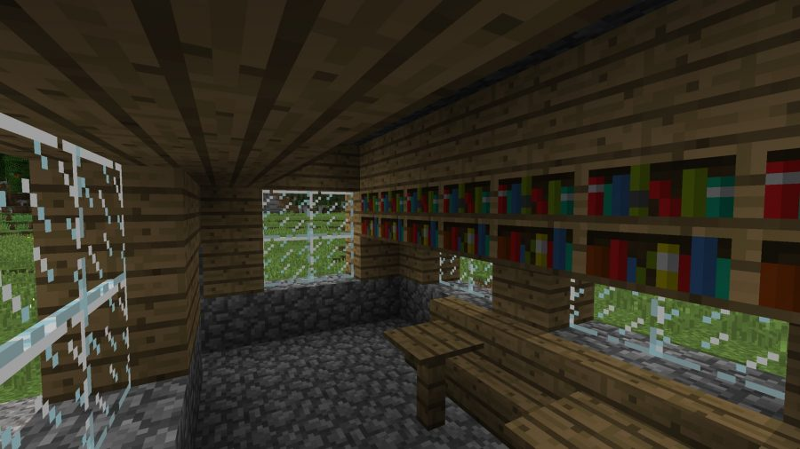 minecraft-seed-the-librarian-house-books