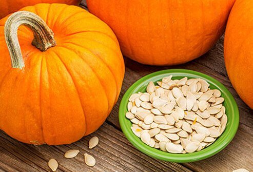 Pumpkin seeds are a tasty snack that boasts 16% of your daily iron needs in just ¼ cup.